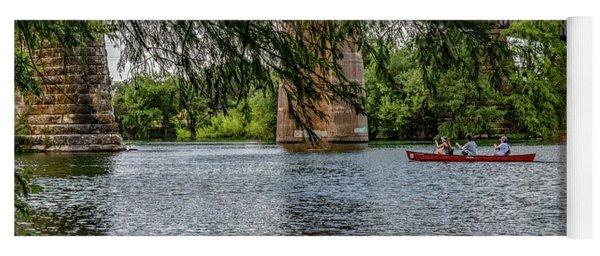 Canoeing Lady Bird Lake Yoga Mat