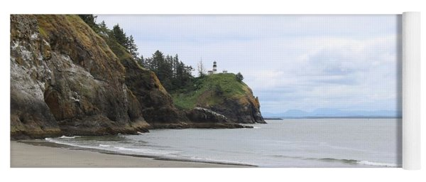 Cape Disappointment With Lighthouse And Beach Yoga Mat