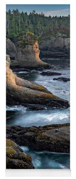 Yoga Mat featuring the photograph Cape Flattery by Ed Clark