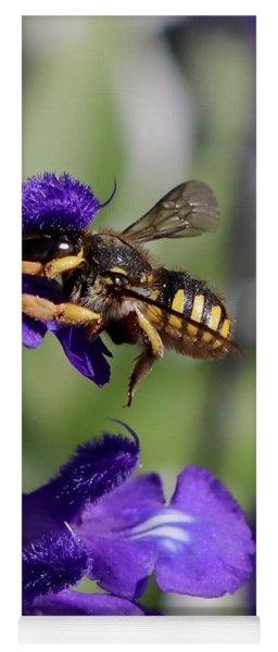 Carder Bee On Salvia Yoga Mat