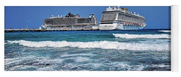 Caribbean Cruise On Msc Seaside, Visit Cozumel In Mexic Yoga Mat