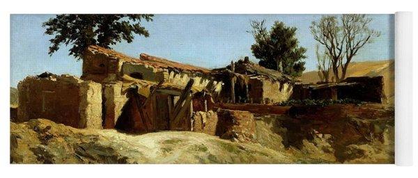 Carlos De Haes / 'tile Factories On Principe Pio Hill', Ca. 1872, Spanish School. Yoga Mat