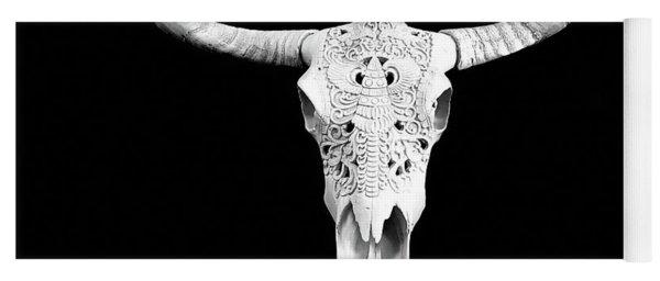 Carved Animal Skull  Yoga Mat