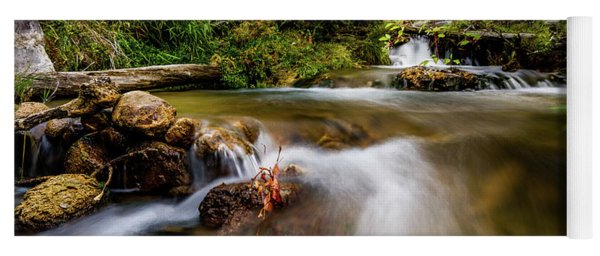 Cascades On The Provo Deer Creek Yoga Mat
