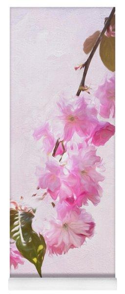 Cascading Kwanzan Cherry Blossoms Yoga Mat