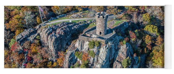 Yoga Mat featuring the photograph Castle Craig by Michael Hughes