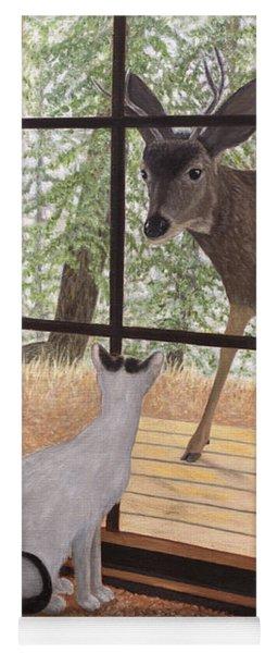Cat Meets Deer Yoga Mat