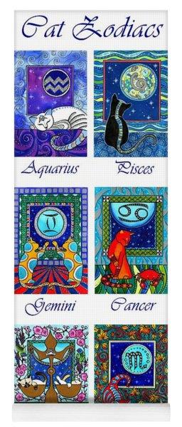 Cat Zodiac Astrological Signs Yoga Mat