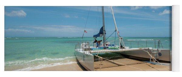 Catamaran On Waikiki Yoga Mat