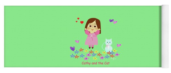 Cathy And The Cat Spring Is Coming Yoga Mat