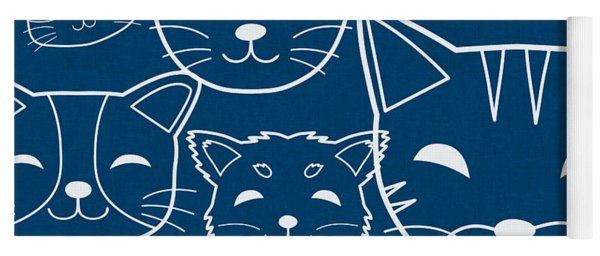Yoga Mat featuring the digital art Cats- Art By Linda Woods by Linda Woods