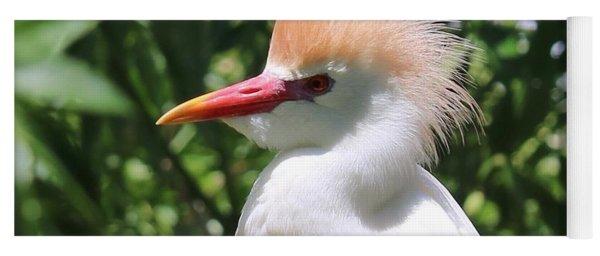 Cattle Egret Profile Yoga Mat