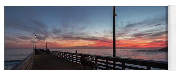 Cayucos Pier Sunset Yoga Mat