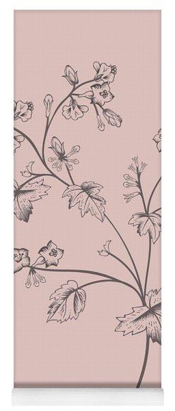 Blush Pink Tropical Leaf II Yoga Mat