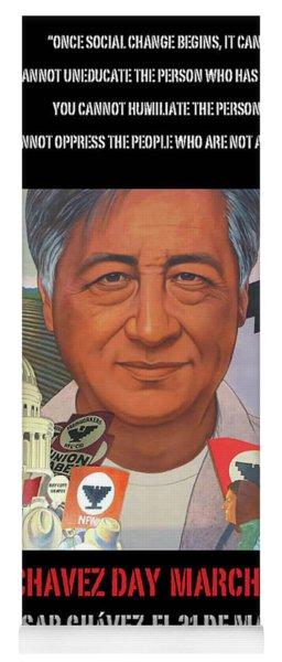 Cesar Chavez Poster Yoga Mat