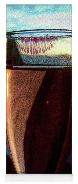 Yoga Mat featuring the photograph Champagne Glass Lipstick by Bill Swartwout Fine Art Photography