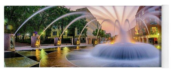 Charleston Waterfront Fountain Yoga Mat
