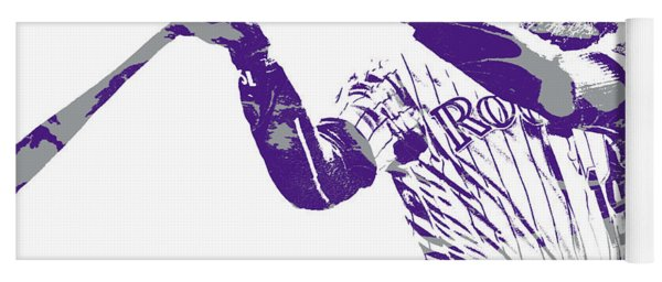 Charlie Blackmon Colorado Rockies Pixel Art  20 Yoga Mat