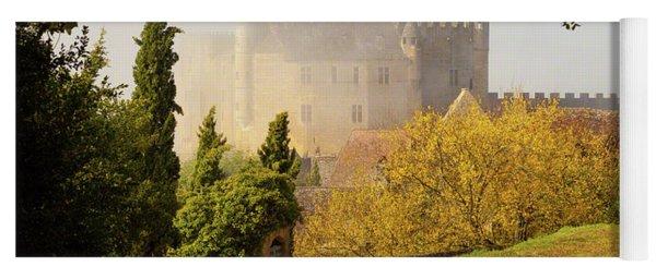 Chateau Beynac In The Mist Yoga Mat