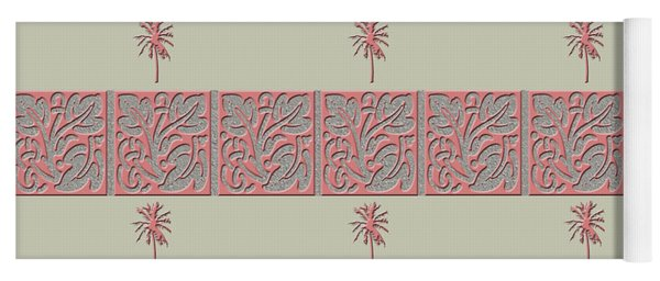Yoga Mat featuring the photograph Cheery Coral Pink by Rockin Docks Deluxephotos