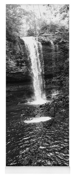 Yoga Mat featuring the photograph Cherokee Falls Bnw by Rachel Hannah