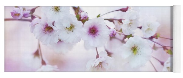 Cherry Blossoms In Pastel Pink Yoga Mat