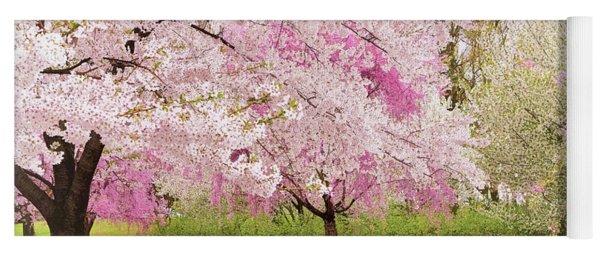 Cherry Blossoms Season's End Yoga Mat