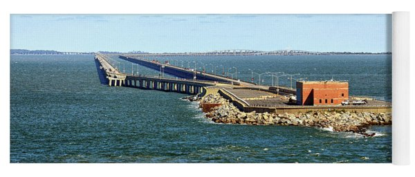 Yoga Mat featuring the photograph Chesapeake Bay Bridge Tunnel E S V A by Bill Swartwout Fine Art Photography