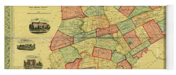 Chester County Pennsylvania Map 1856 Yoga Mat