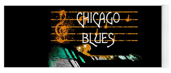 Chicago Blues Music Yoga Mat