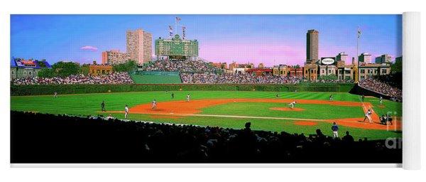Chicago Cubs Wrigley Field Yoga Mat