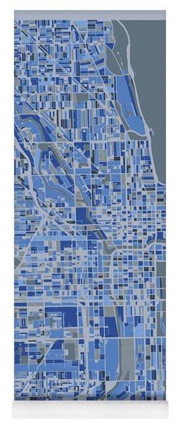 Chicago Map Retro 5 Yoga Mat