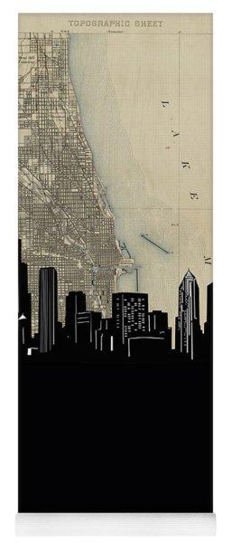 Chicago Skyline Map Yoga Mat
