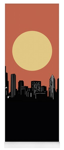 Chicago Skyline Minimalism 4 Yoga Mat
