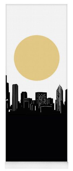 Chicago Skyline Minimalism Yoga Mat