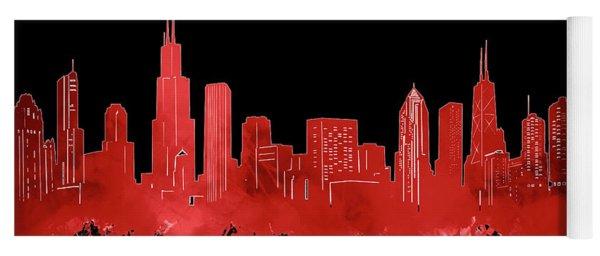 Chicago Skyline Watercolor 5 Yoga Mat
