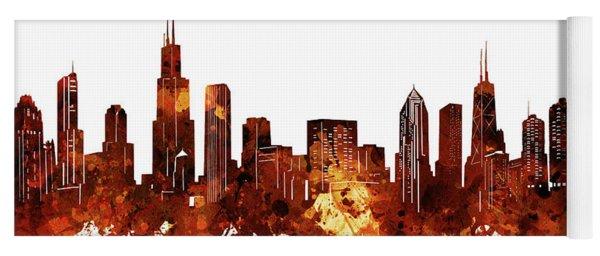 Chicago Skyline Watercolor 6 Yoga Mat
