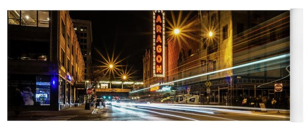 Chicago's Aragon Ballroom Time Exposure Yoga Mat