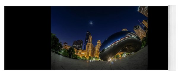 Chicago's Bean And Moon  Yoga Mat