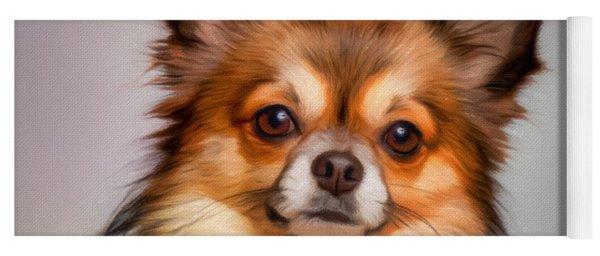 Chihuahua Dog Portrait Yoga Mat