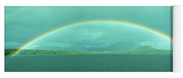 Chilean Fjord Rainbow Yoga Mat