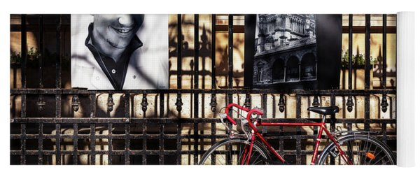 Yoga Mat featuring the photograph Choir Boy's Red Bicycle by Craig J Satterlee