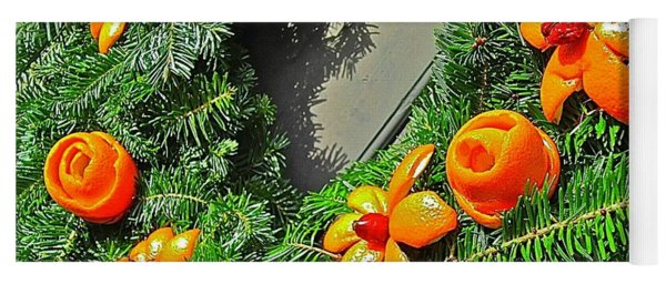 Yoga Mat featuring the photograph Christmas Citrus by Don Moore