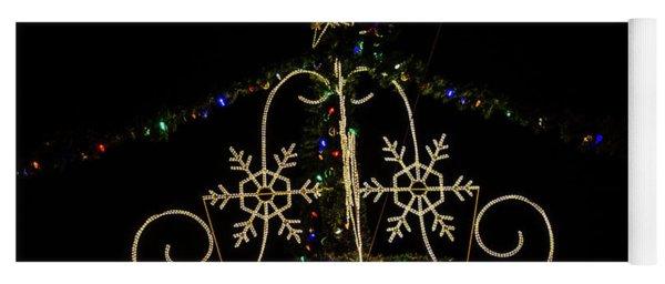 Christmas Lights At Night Yoga Mat