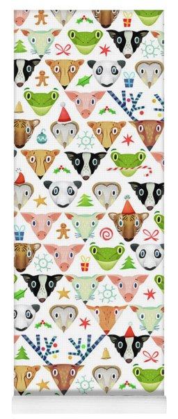 Christmas Pattern Yoga Mat