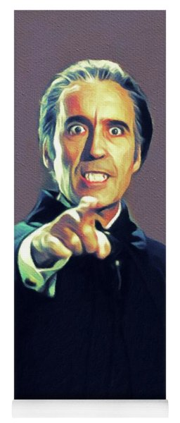 Christopher Lee As Dracula Yoga Mat