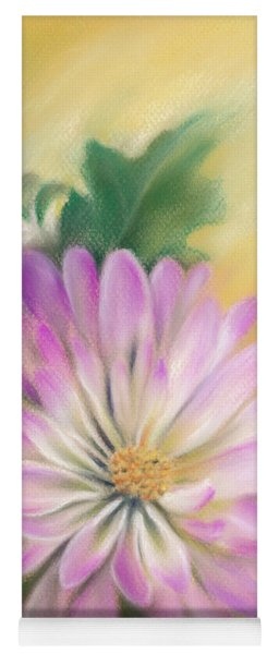 Chrysanthemum Blossom With Bud And Leaf Yoga Mat