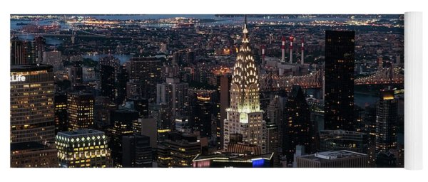 Chrysler Building Night Yoga Mat