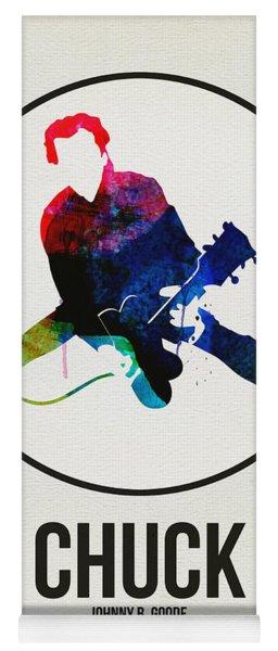 Chuck Berry Watercolor Yoga Mat