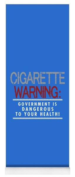 Cigarette Warning Yoga Mat